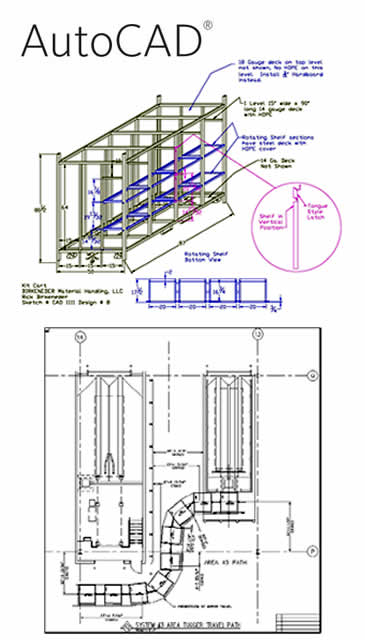 AutoCAD Material Handling Designed Equipment